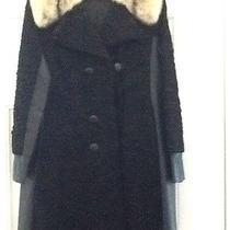 Vintage Persian Curly Lamb & Leather Coat Custom Photo