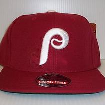Vintage Phillies Snapback Hat by American Needle Nwt  Photo