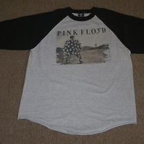 Vintage Pink Floyd Mens Heather Gray & Black Rock Band Concert T Shirt L Large Photo