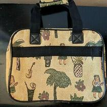 Vintage Pioneer Express Tropical Tiki Print Tapestry Luggage Bag Photo