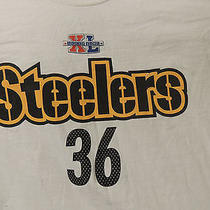Vintage Pittsburgh Steelers Jerome Bettis 36 Football Jersey T-Shirt Large  Photo