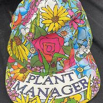 Vintage Plant Manager Garden Baseball Cap Hat Floral Samuel Byrd Company Rare Photo
