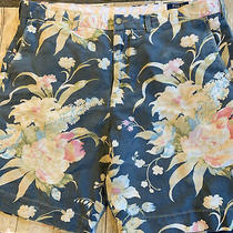 Vintage Polo Ralph Lauren Dress Shorts Size 38 Blue Pink Green Floral Photo