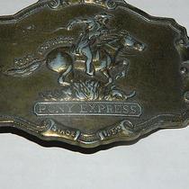 Vintage Pony Express Belt Buckle Since 1852 Photo