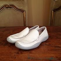 Vintage Prada Womens Slip on Dress Casual Shoes Size 7 White Photo