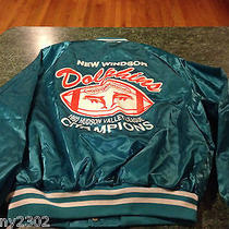 Vintage Pro Fit Hudson Valley New Windsor Dolphins Satin Jacket Mens Size Large Photo