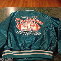 Vintage Pro Fit Hudson Valley New Windsor Dolphins Satin Jacket Mens Size Large Photo