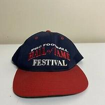 Vintage Pro Football Hall of Fame Snapback Hat Blue  Photo