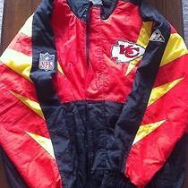 Vintage Pro Line Kansas City Chiefs Jacket by Apex One Size M Photo
