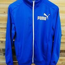 Vintage Puma Mens Jacket Tracksuit Top Size Small Blue 24hr Postage  Photo