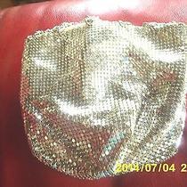 Vintage Purse Handbag Silver Mesh Drawstring Pouch Clutch Whiting Davis Over 60  Photo
