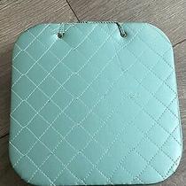 Vintage Quilted Tiffany Blue Satin Lingerie Hankie Vanity Storage Box 8