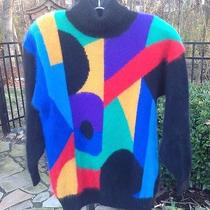 Vintage Rafaella Angora & Lambs Wool Turtle Neck Sweater Sz Small Bright Colors Photo