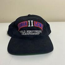 Vintage Rahman Lewis World Heavyweight Championship Boxing Snapback Hat Black Photo
