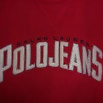 Vintage Ralph Lauren Polo Jeans Red Sweatshirt Shirt Sz Medium M 90's Era Photo