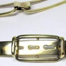 Vintage Ralph Lauren Sterling Silver Belt Italy Gold Washed 1348 O Photo