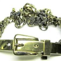 Vintage Ralph Lauren Sterling Silver Belt Italy Gold Washed 1348 M Photo