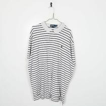 Vintage Ralph Lauren Striped Polo Shirt Top White 2xl Photo