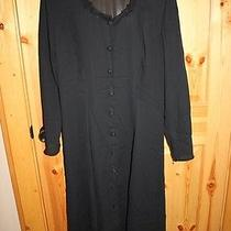 Vintage Rampage Sexy Black Sheer Dress 11 Big Black Buttons See Through Photo