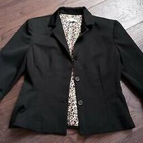 Vintage Rampage Short Black Blazer Jacket Size 8 Leopard Lining Photo