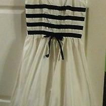 Vintage Rampage Size 3 Dress 1950's Audrey Hepburn Style Black and White Party Photo