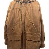 Vintage Rare Bally Brown Soft Leather Jacket Coat W/ Removable Hood Men's 36/s Photo