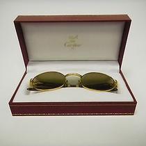 Vintage Rare Cartier Gold/wood Sunglasses Photo