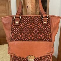 Vintage Rare Fossil Large Tapestry Embroided Handbag Tote Photo