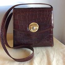 Vintage Rare Gianni Versace Bag Shoulder Hand Medusa Classic Croc Brown Photo
