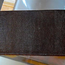 Vintage Rare Gucci  Wallet Lizard Skin Brown Continental Checkbook Photo