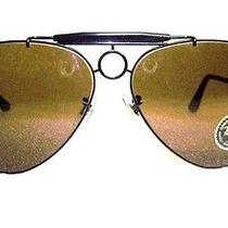 Vintage Ray-Ban b&l Aviator Nos Driver Deluxe Shooter 64 B-20 Mirror Sunglasses Photo