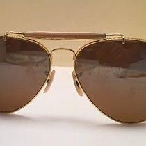 Vintage Ray Ban b&l Aviator Pilot Sunglasses 6214 Bausch Lomb Brownish/ Amber Photo