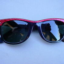 Vintage Ray Ban B & L Street Neat Wayfarer Electric Red G15 Sunglasses Photo