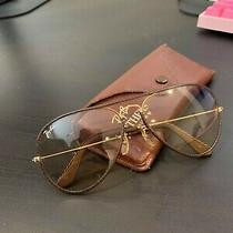 Vintage Ray Ban Bausch Lomb Outdoorsman Ii Aviator Brown Leather Sunglasses Photo