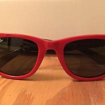 Vintage Ray Bans  Red Black Wayfarer Super Fun Style 2140 Photo