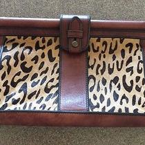 Vintage Re-Issued Fossil Cheetah Print Clutch Photo