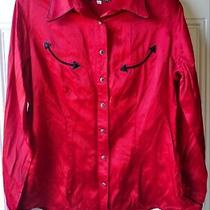Vintage Red and Black Guess Jeans Usa Western Style Button Up Shirt Size Xl Photo