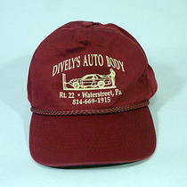 Vintage Red Dively's Auto Body Baseball Hat/cap Adjustable Button Strap Photo