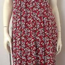 Vintage Red Floral Print Summer Dress by Compagnie Internationale by Express Photo