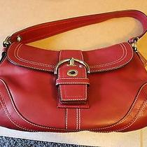 Vintage Red Leather Coach Purse - Soho F10910 Photo