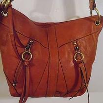 Vintage Red Leather Fossil Shoulder Bag Purse Photo
