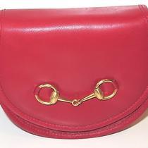 Vintage Red Leather Gucci Belt Bag  Photo