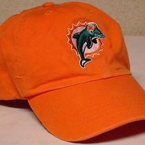 Vintage Reebok Nfl Miami Dolphins 40th Anniversary Orange Baseball Hat Cap Adj. Photo