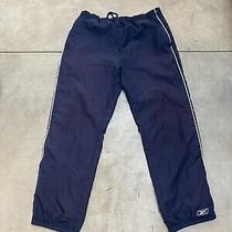 Vintage Reebok Pants Size Medium Navy Blue  Photo