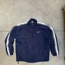 Vintage Reebok Track Jacket Size Medium Navy Blue  Photo
