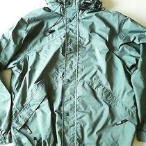 Vintage Rei Elements Waterproof  Windbreaker Rain Jacket Size L Unisex  Green Photo