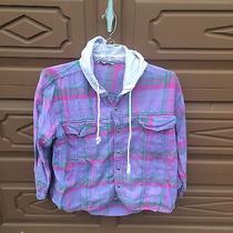 Vintage Retro Cotton Express Sweatshirt Flannel Womens Medium Photo
