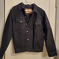 Vintage Retro or Punk Black Denim Jordache Jacket Size Small Photo