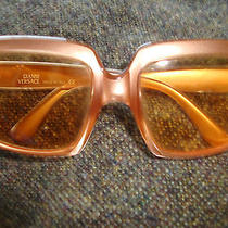 Vintage/retro Versace Tinted Square Frame Sunglasses Photo
