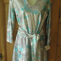 Vintage Rhoda Lee Tunic Top Micro Mini Dress Mod Aqua White Sash Belt Usa Xs/s Photo